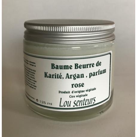 Baume Beurre de Karité, Argan à la Rose - Lou Senteurs